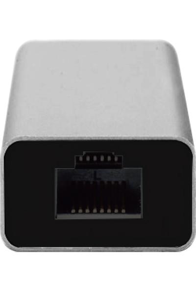 Daytona Bix USB 3.0 To 3 Ports USB + RJ45 Gigabit Ethernet Hub Çevirici Adaptör