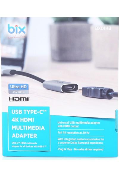 Daytona Bix Type-C To HDMI 4K Çevirici Adaptör