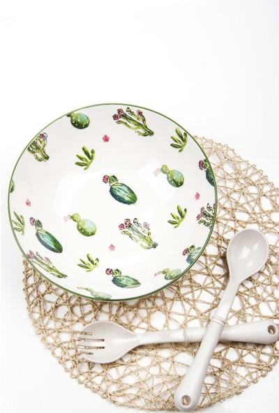 Mukko Home Kaktüs Salata Tabağı 26 cm