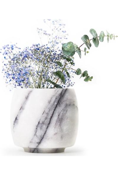 Coho Crystal Arc Lilac Mermer Saksı