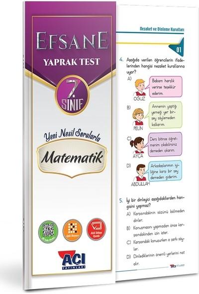 Açı 7. Sınıf Matematik Çek Kopart Yaprak Test