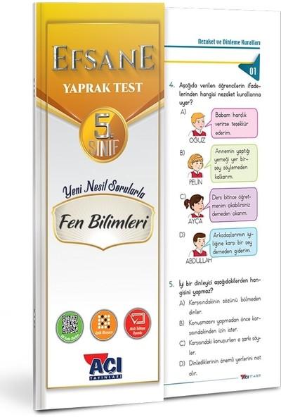 Açı 5. Sınıf Fen Bilimleri Çek Kopart Yaprak Test