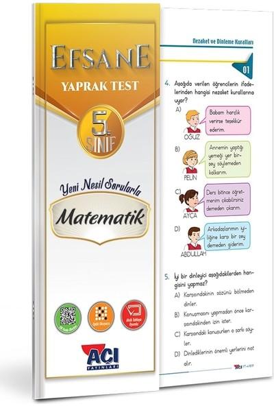 Açı 5. Sınıf Matematik Çek Kopart Yaprak Test
