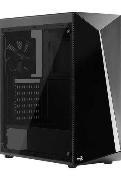 Aerocool Shard RGB Full Acrylic 500W Midi Tower Siyah Kasa (AE SHRD 500)