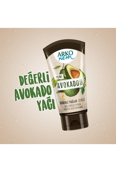 Arko Nem Değerli Yağlar Avokado Yağlı Nemlendirici Krem 250 ml & 60 ml
