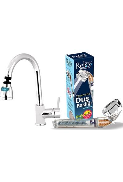 Relax Shower Tasarruflu Duş Başlığı Ve Relax Kitchen Tasarruflu Mutfak Başlığı