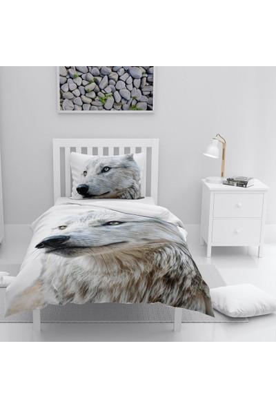 Monohome White Wolf Naturel Tek Kişilik Nevresim Takımı
