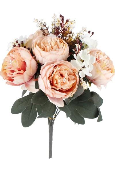 Çiçekmisin Cipsolu Şakayık Demet Gül Yapay Çiçek