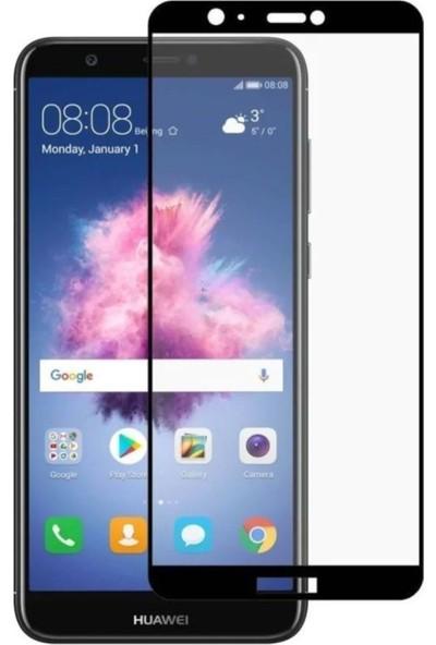 Syronix Huawei P Smart 2018 Tam Kaplayan 7D Nano Ekran Koruyucu Siyah
