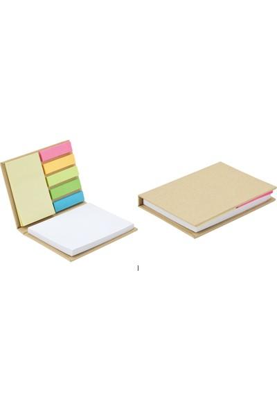 Ema Geri Dönüşüm Yapışkanlı Not Kağıdı Notluk Renkli Belirteç (Büyük )