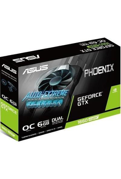 Asus Phoenix GeForce GTX 1660S OC 6GB 192Bit GDDR6 DX(12) PCI-E 3.0 Ekran Kartı (PH-GTX1660S-O6G)