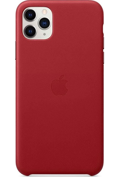Apple iPhone 11 Pro Max Deri Kılıf Product Red - MX0F2ZM/A