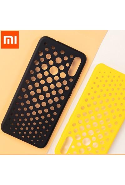 Xiaomi Mi Redmi Note 7 Perforated Case - Delikli Arka Kapak Siyah