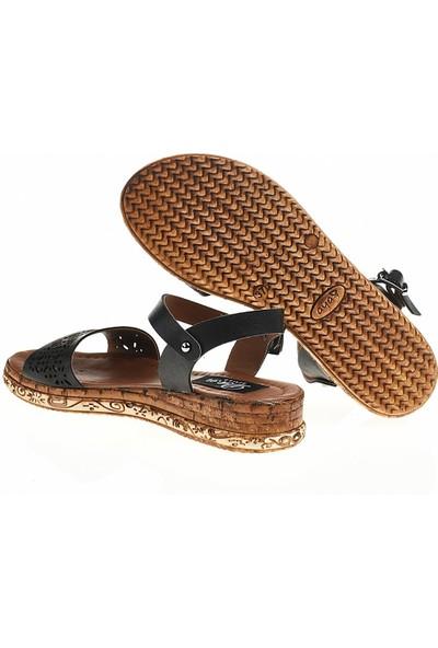 Derigo 22999Siyah Kadın Sandalet