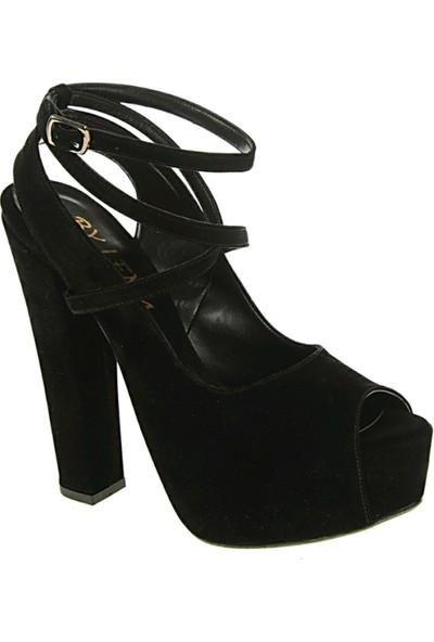 Derigo 241813Siyah Kadın Klasik Topuklu Ayakkabı