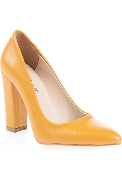 Derigo 2818182Hardal Kadın Klasik Topuklu Ayakkabı