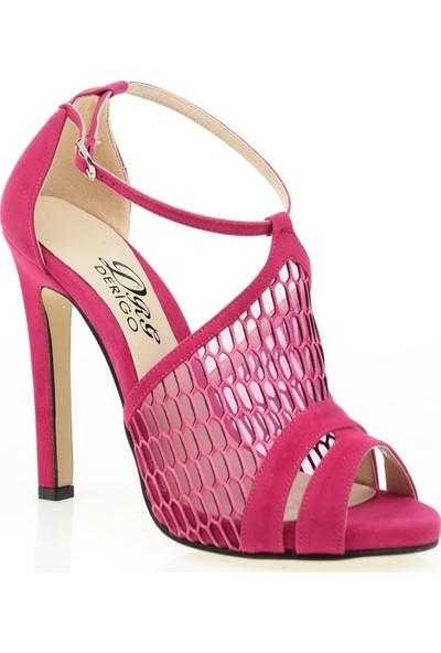 Derigo 3518140Fuşya Süet Kadın Klasik Topuklu Ayakkabı