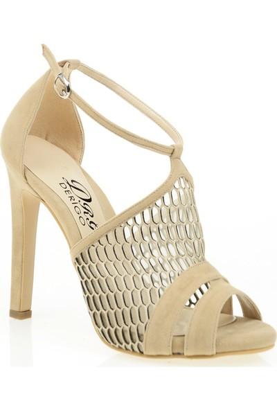 Derigo 3518140Vizon Süet Kadın Klasik Topuklu Ayakkabı