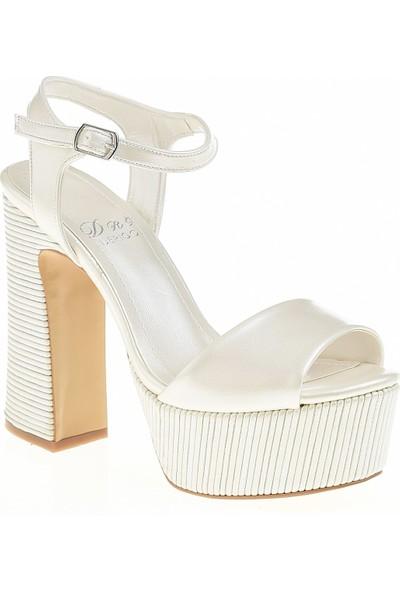 Derigo 35424Beyaz Kadın Topuklu Ayakkabı