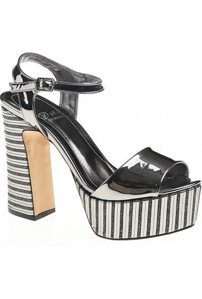 Derigo 35424Platin Kadın Topuklu Ayakkabı