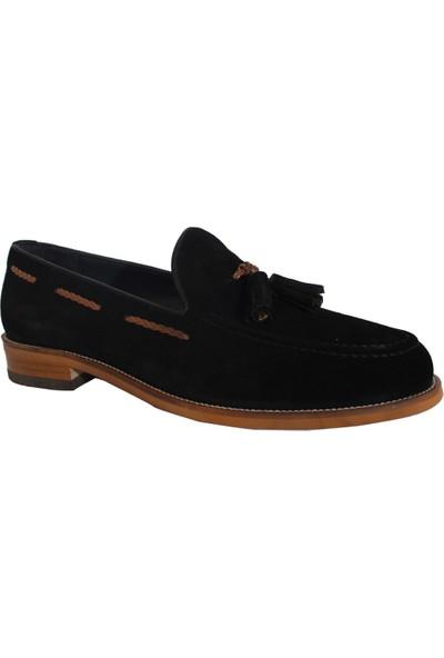 Derigo 432350Siyah Süet Erkek Püsküllü Ayakkabı