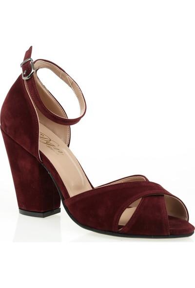 Derigo 447312Bordo Süet Kadın Klasik Ayakkabı