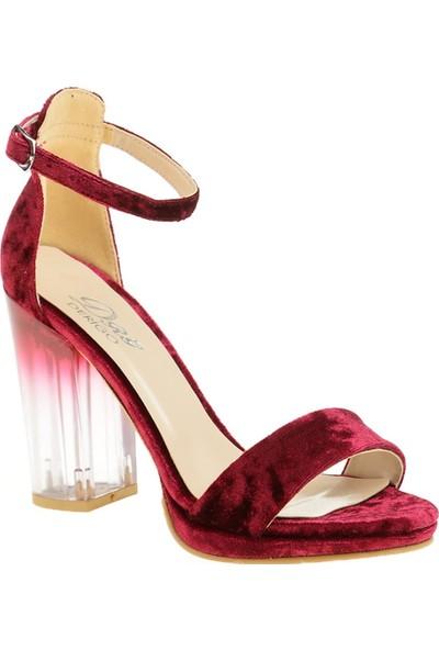 Derigo 45100Fuşya Süet Kadın Topuklu Ayakkabı