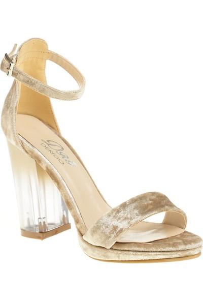 Derigo 45100Ten Süet Kadın Topuklu Ayakkabı