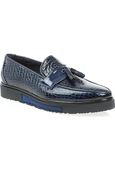 Derigo 51845Lacivert Croc Erkek Klasik Ayakkabı