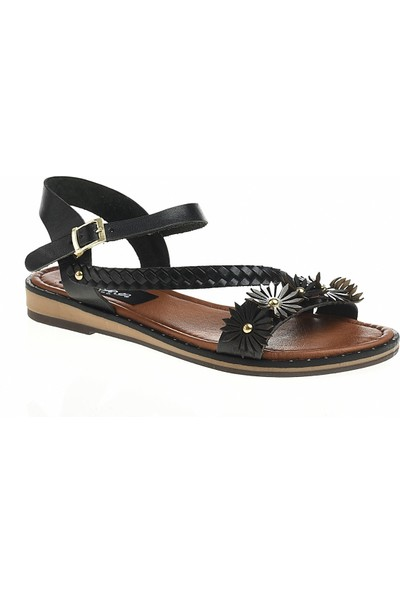 Derigo 521238Siyah Kadın Sandalet
