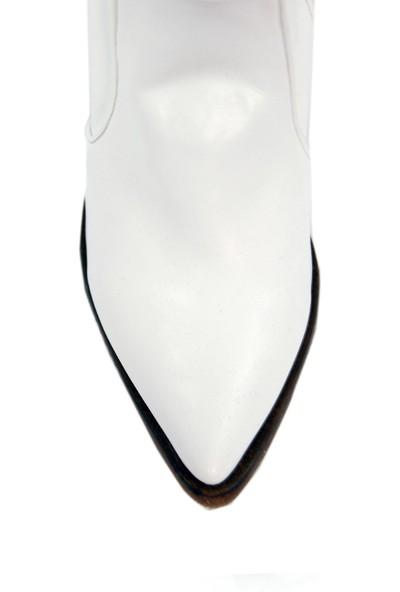 Derigo 20107Beyaz Kadın Topuklu Bot