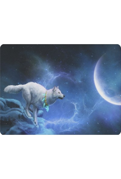 Wuw Beyaz Kurt Mouse Pad