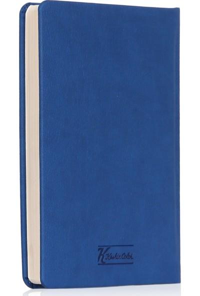 Keskin Color 2020 Günlük Termo Deri Ajanda Mercan 14x20 cm Lacivert