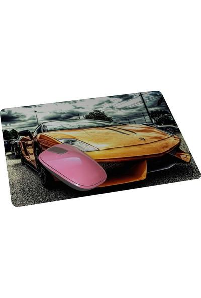 Wuw Sarı Spor Araba Mouse Pad