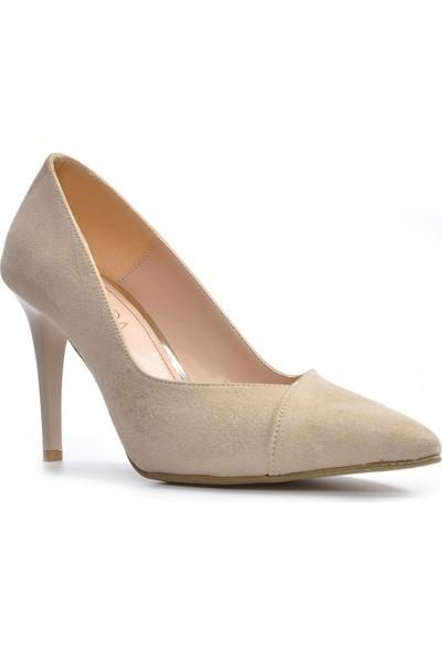 Vizon Kadın Vizon-Süet Klasik Topuklu Ayakkabı Vzn19-109K