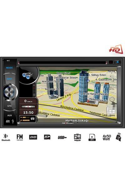 Newfron NF-N621 6,2 Inc DVD Usb/Sd/Gps /Bt Double Oto Teyp