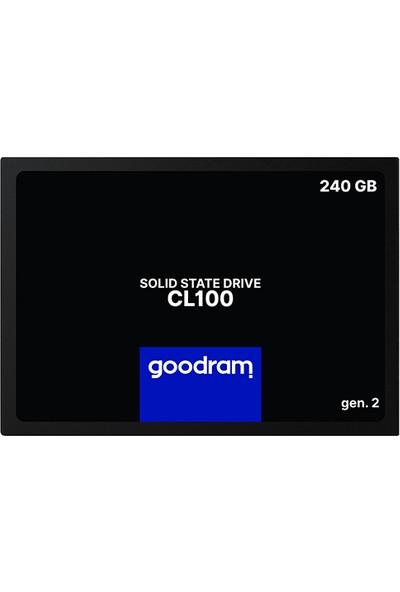 Goodram 240 GB SSD Disk CL100 2.5'' Sata Iıı Gen 2. 520 Mb/s 400 Mb/s SSDPR-CL100-240-G2