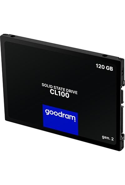 Goodram 120 GB SSD Disk CL100 2.5'' Sata Iıı Gen 2. 485 Mb/s 380 Mb/s SSDPR-CL100-120-G2