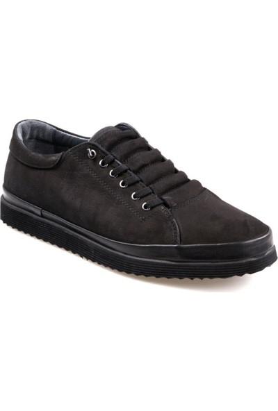 Goes 492 Eva Taban Siyah Günlük Erkek Deri Nubuk Ayakkabı