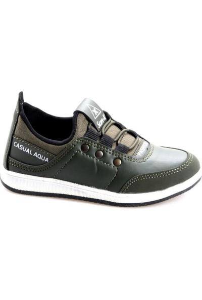 Scor-X Erkek Çocuk Haki Günlük Spor Ayakkabı