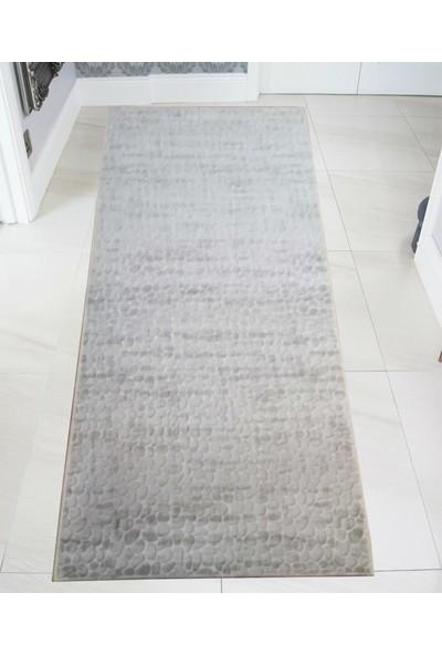 Asfar Taş Desenli Kaymaz Taban Yolluk Halı 80 x 150 cm