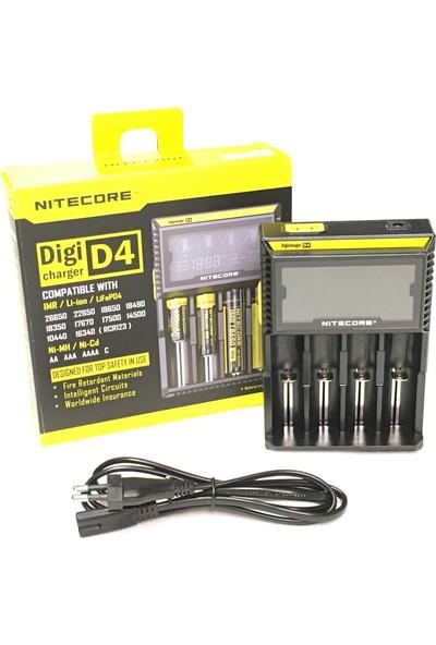 Nitecore D4 LCD Ekranlı Şarj Cihazı