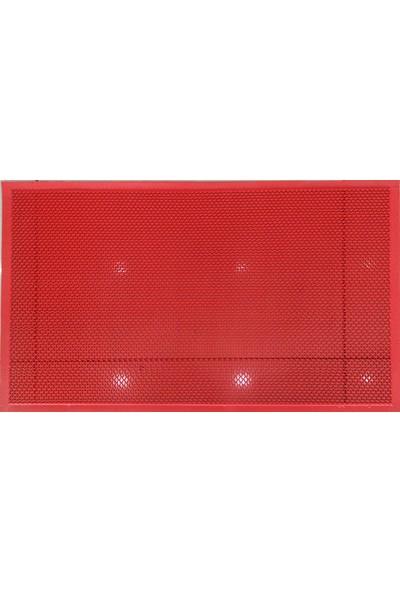 Kos Z Mat Pvc Kaydırmaz Paspas - Islak Zemin Paspası Banyo Paspası Kırmızı 60X90 cm