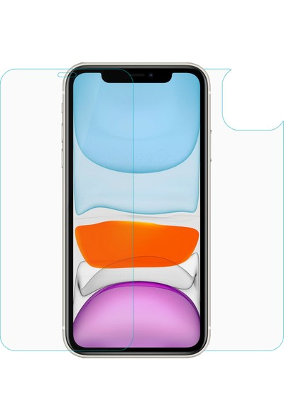 Microsonic Apple iPhone 11 Ön + Arka Nano Cam Ekran Koruyucu - Şeffaf