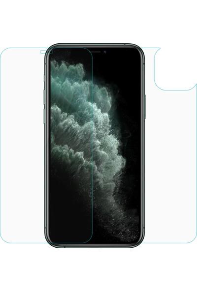 Microsonic Apple iPhone 11 Pro Ön + Arka Temperli Cam Koruyucu - Şeffaf