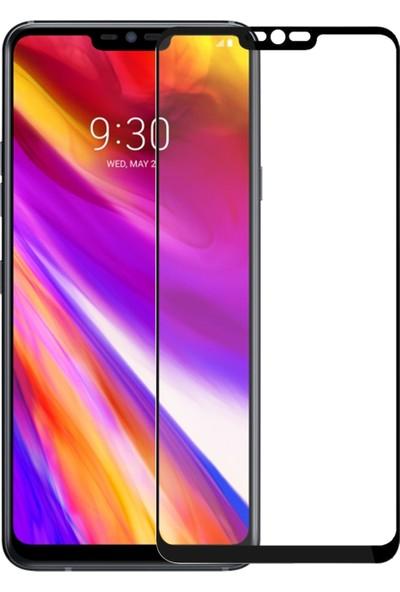Microsonic LG G7 Tam Kaplayan Temperli Cam Ekran Koruyucu - Siyah