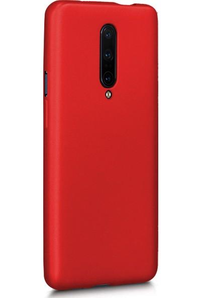 Microsonic OnePlus 7 Pro Mat Silikon Kılıf - Kırmızı