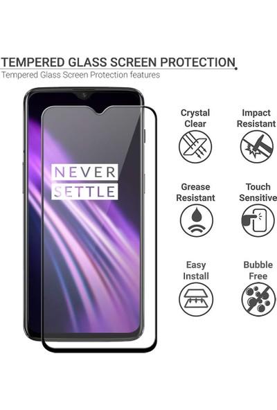 Microsonic OnePlus 7 Tam Kaplayan Temperli Cam Ekran Koruyucu Siyah