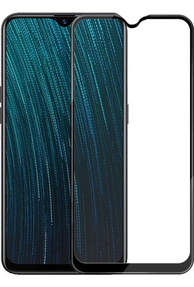 Microsonic Oppo A5S Tam Kaplayan Temperli Cam Ekran Koruyucu - Siyah