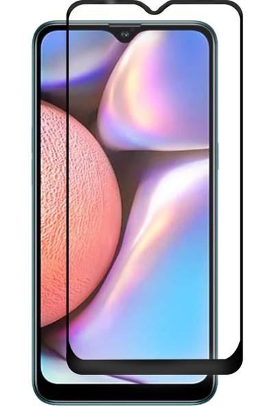 Microsonic Samsung Galaxy A10s Tam Kaplayan Temperli Cam Ekran Koruyucu - Siyah